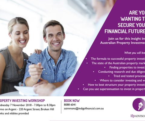 Investment Property Workshop – Wed 7 November 2018 (Broken Hill)